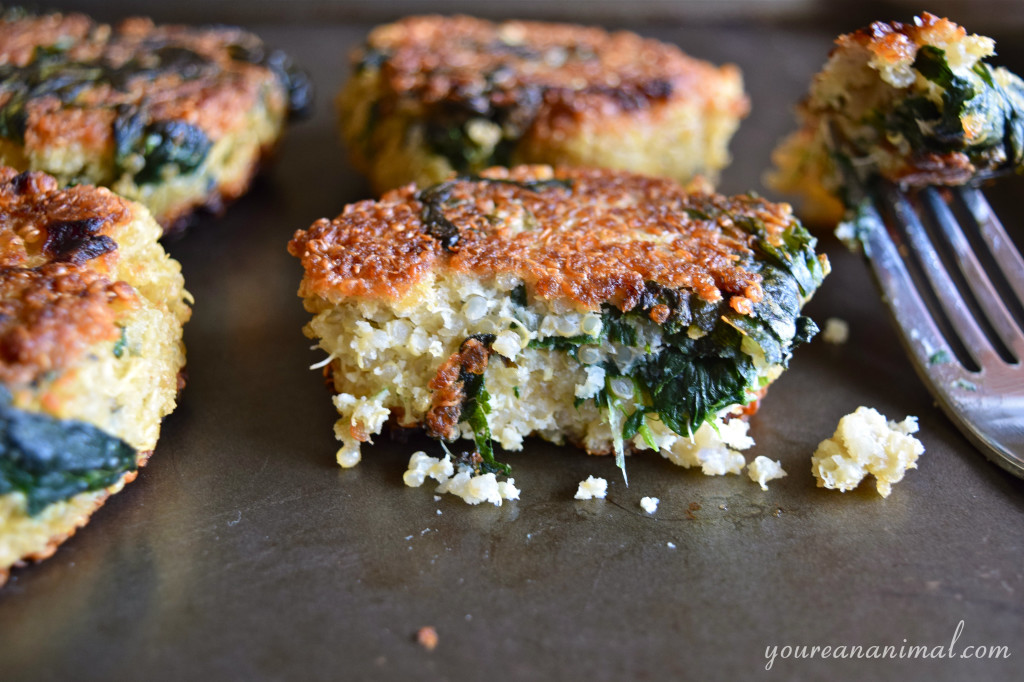 Quinoa and Spinach Patties (Gluten-Free). Perfect freezer meal!