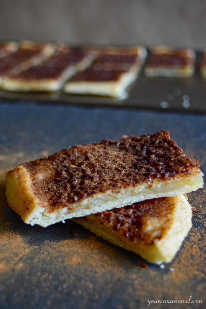 Gluten Free Grain Free Nut Free Cinnamon Crunch Flatbread